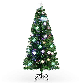 Image Unavailable. Image not available for. Color: Belleze Pre-Lit Fiber  Optic 7' ft Artificial Christmas Tree with LED Multicolor Prelit - Amazon.com: Belleze Pre-Lit Fiber Optic 7' Ft Artificial Christmas