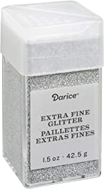 Bling Extra Fine Glitter 1.5 Ounces Canister w/Pour or Shake Lid