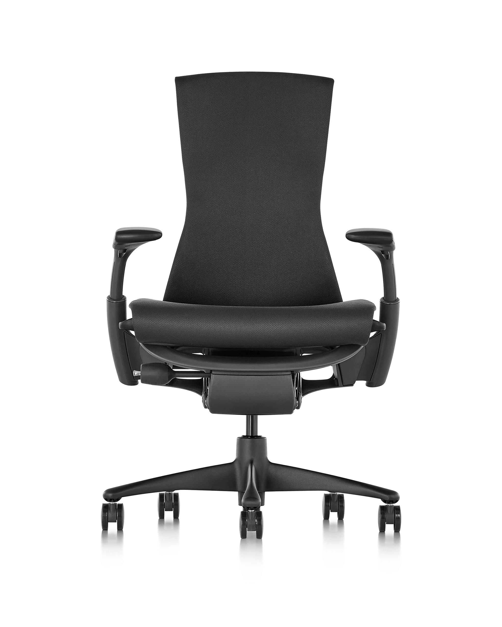 Herman Miller Embody Chair - Graphite Frame/Black Rhythm Textile , Graphite/Black Rhythm - CN122AWAAG1G1BB3014 by Herman Miller
