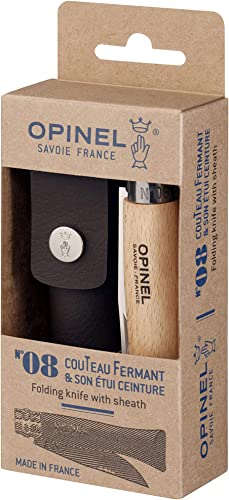 Opinel No.08 Stainless Steel Folding Knife with Sheath