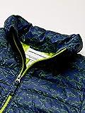 Amazon Essentials Boy's Lightweight Water-Resistant Packable Puffer Jacket, Navy Line Shark, X-Large