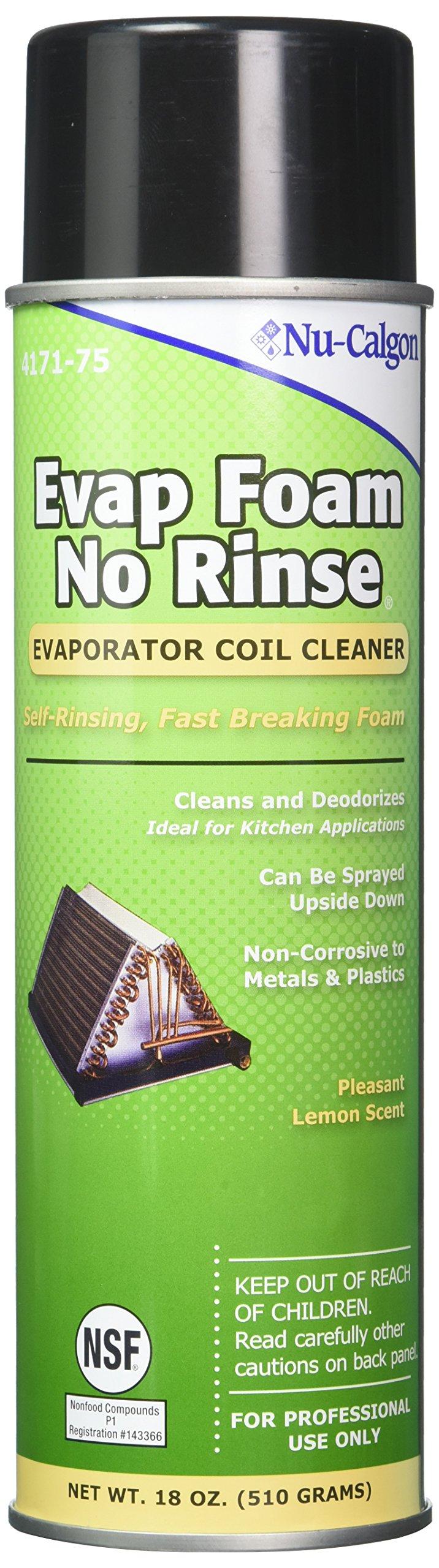 Nu-Calgon 4171-75 Evap Foam No Rinse Evaporator Coil Cleaner, 18 oz. by Nu Calgon