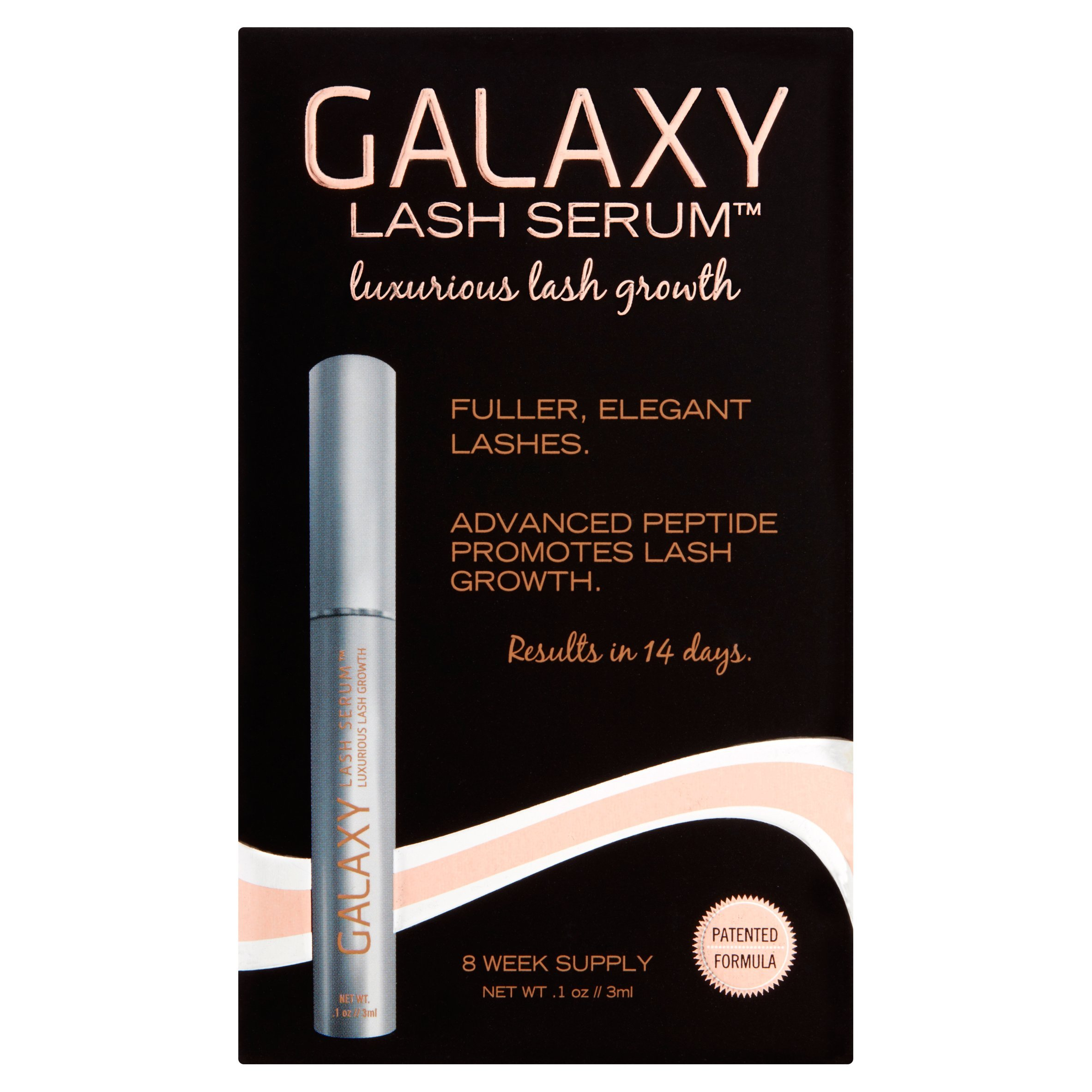 Galaxy Lash Serum - #1 World Renowned Eyelash Growth Product As Used By Industry Professionals with Patented Proprietary Peptide Blend, Luxurious Lashes Without a Prescription, Only Real Product on the Market That Has Been Opthalmoligist Tested and Dermat