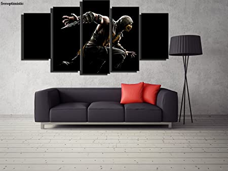 5 paneles impresos HD Ninja Assassin pintura lienzo ...