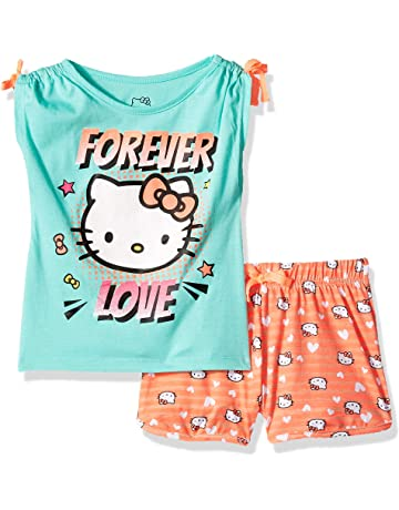 ad3f92eecf3e Hello Kitty Girls  Short Set with Embellished Fashion Top