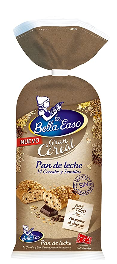La Bella Easo Gran Cereal Pan De Leche - 228 g: Amazon.es ...