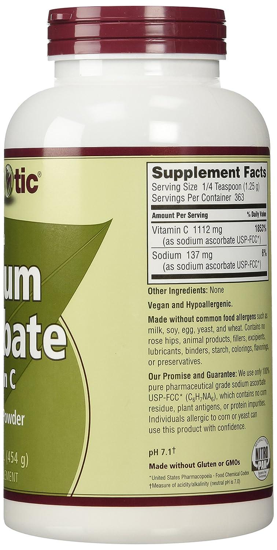 NutriBiotic, Sodium Ascorbate, Crystalline Powder, 16 oz (454 g)