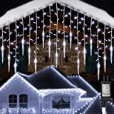 Toodour Christmas Icicle Lights, 29.5ft 360 LED, 8 Modes, Window Curtain Fairy Lights with 60 Drops, Led Icicle Fairy…
