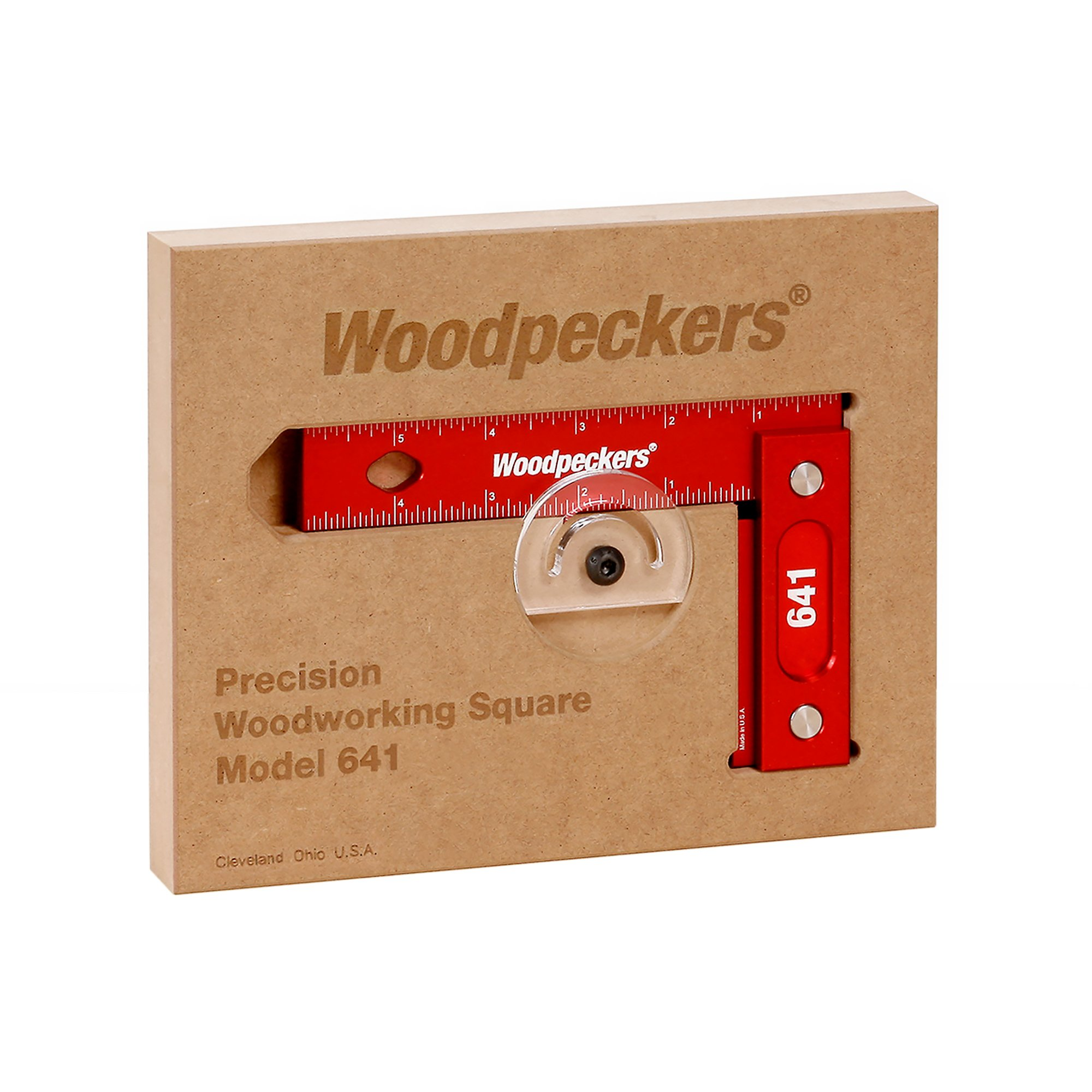 Woodpeckers Precision Woodworking Square 6'' x 4'', Wall-Mountable, Imperial by Woodpeckers (Image #1)