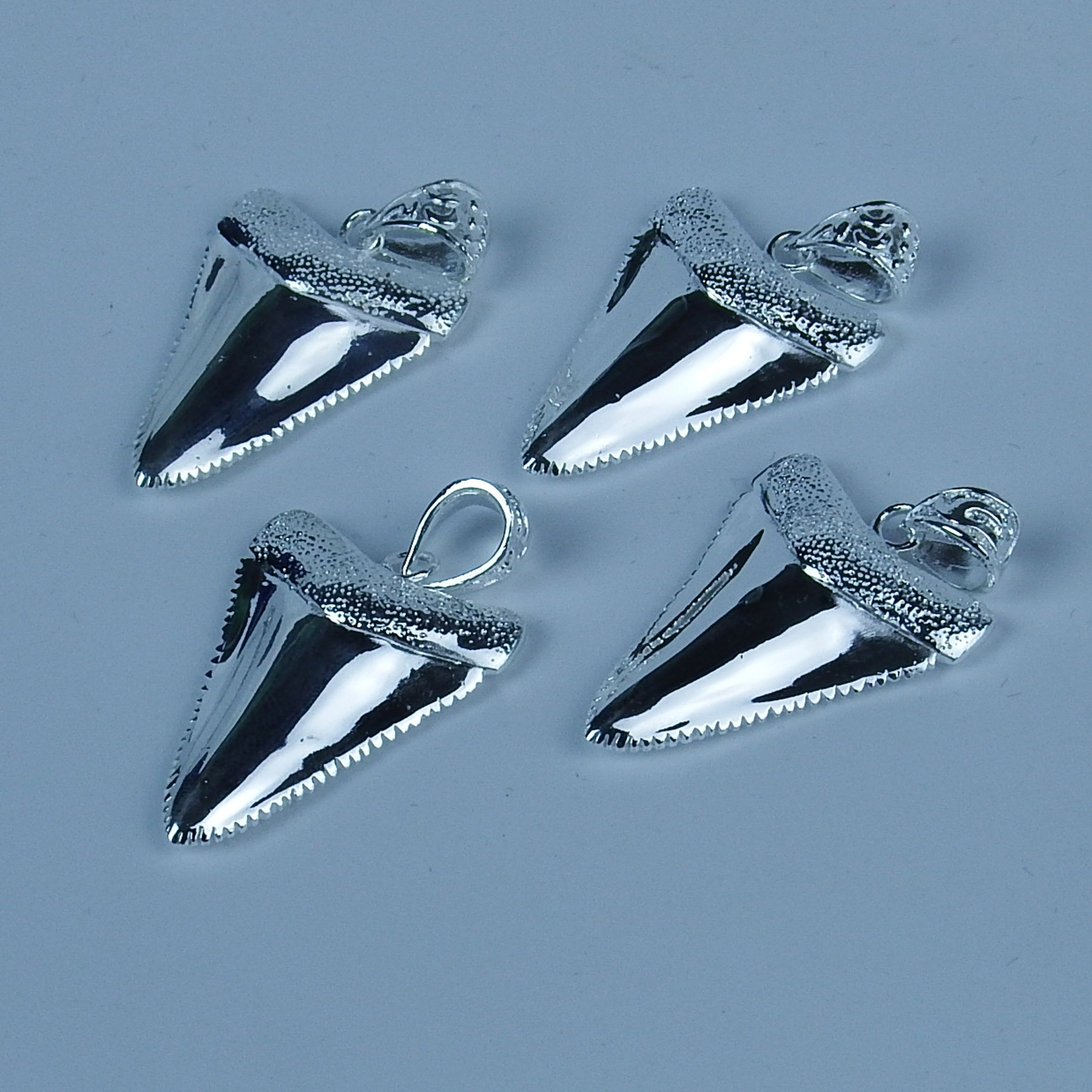 GemShark 15g Sterling Silver Necklace Pendant Great White Shark Tooth for Men Women by GemShark (Image #5)