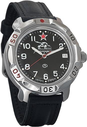 Vostok Komandirskie Russian Tank Forces Army Mechanical Mens  Watch