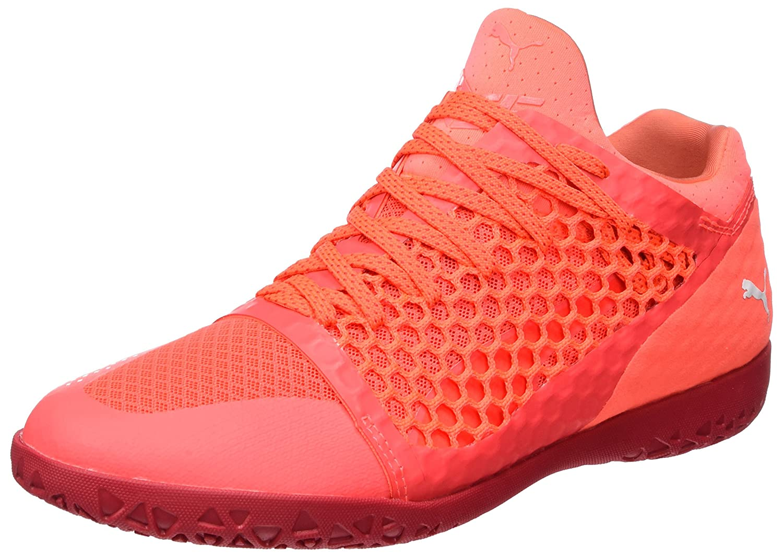 Puma 365 Netfit CT, Zapatillas de Fútbol para Hombre 44 EU|Rojo (Fiery Coral- White-toreador)