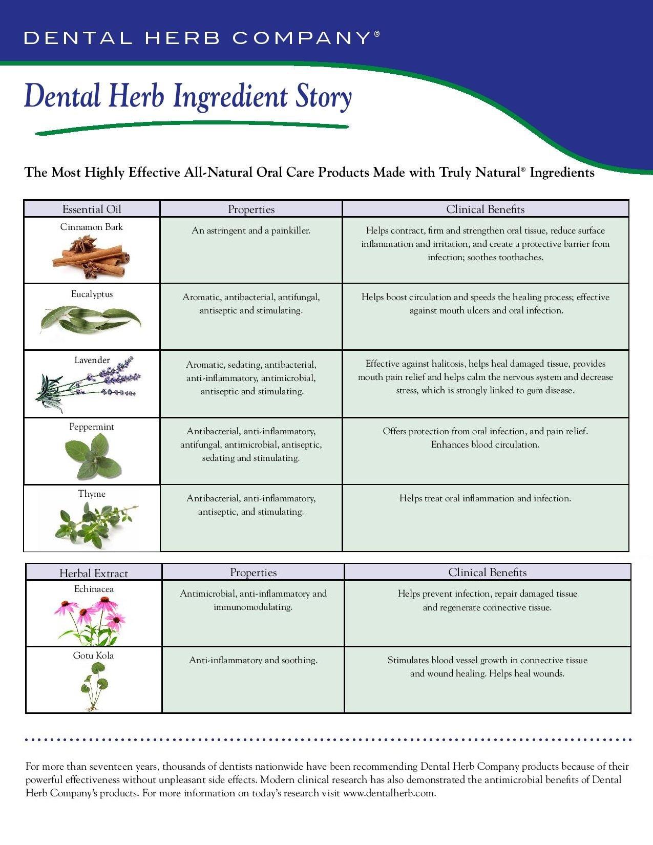 Dental Herb Company Travel Size Tonic + 3-Piece Dental Hygiene Kit
