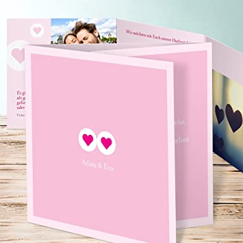 Hochzeitseinladung Selber Gestalten Herzmurmeln 15 Karten