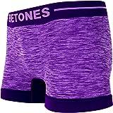 BETONES (ビトーンズ) メンズ ボクサーパンツ CLASH PURPLE dwearsステッカー入り ローライズ アンダーウェア 無地 ブランド 男性 下着