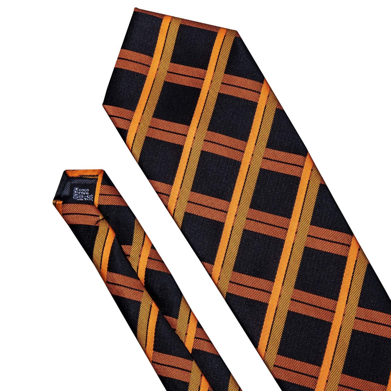 Barry.Wang Emerald Green Silk Tie Set Tartan Ties for Men