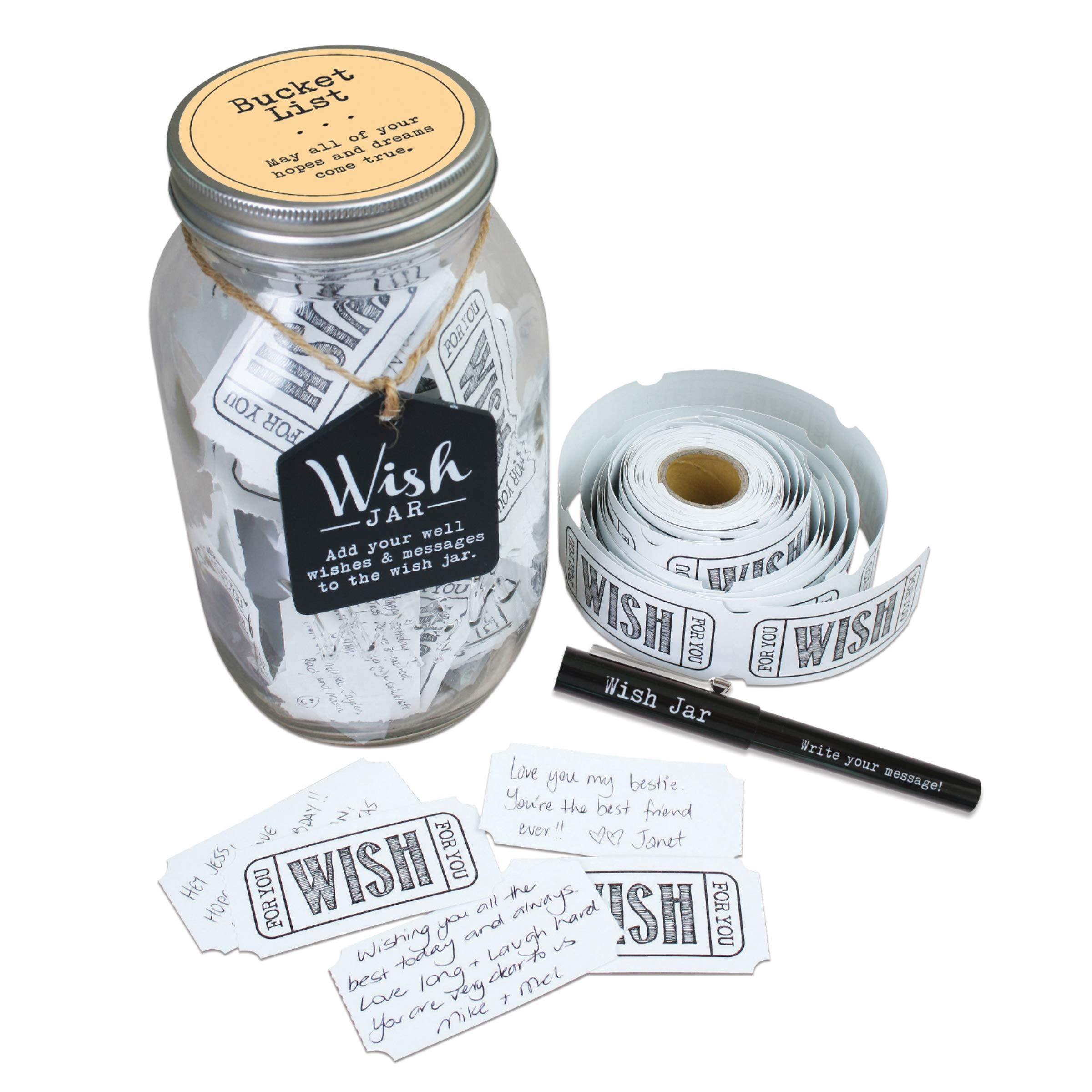 Top Shelf Bucket List Wish Jar With 100 Tickets And Decorative Lid Buy Online In Gambia At Desertcart