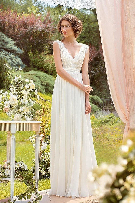 Mingxuerong Hochzeitskleid Boho Spitze Lang glitzer Brautkleid ...