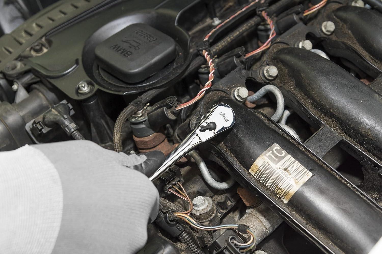 Vierkantantrieb, feinverzahnt mit 72 Z/ähnen, geschlossenes System 6,3 mm 1//4 Zoll V4944 Vigor Vollstahl-Umschaltknarre