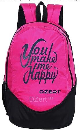 DZert School Bag Backpack 30 Liters for Boys/Girls Polyester Lightweight Bag  Pink