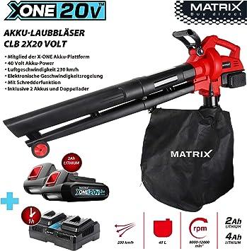Matrix 511010595 CLB 2 x 20 V X de One batería aspirador soplador ...