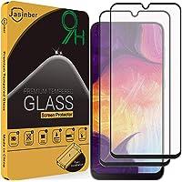 Jasinber 2-Pack Mica Vidrio Cristal Templado Protector de Pantalla para Samsung Galaxy A50 (Negro)