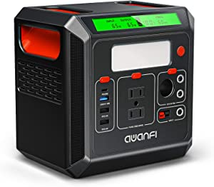 Portable Power Station 300Wh, 83000mAh Solar Generator with 110V/300W (Peak 800W) AC Outlet & PD Type-C Quick Charge & Led Light, Backup Lithium Battery Power Supply for Camping RV Outdoor Home