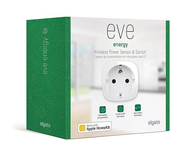 Elgato 2EE308301000 Eve Energy (Sensor de energía Wireless): Amazon.es: Electrónica