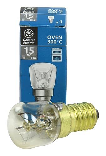 GE by Universal Bargain - Bombillas de rosca pequeña (15 W, SES, E14, 300 ºC, aptos para microondas, horno y sal)