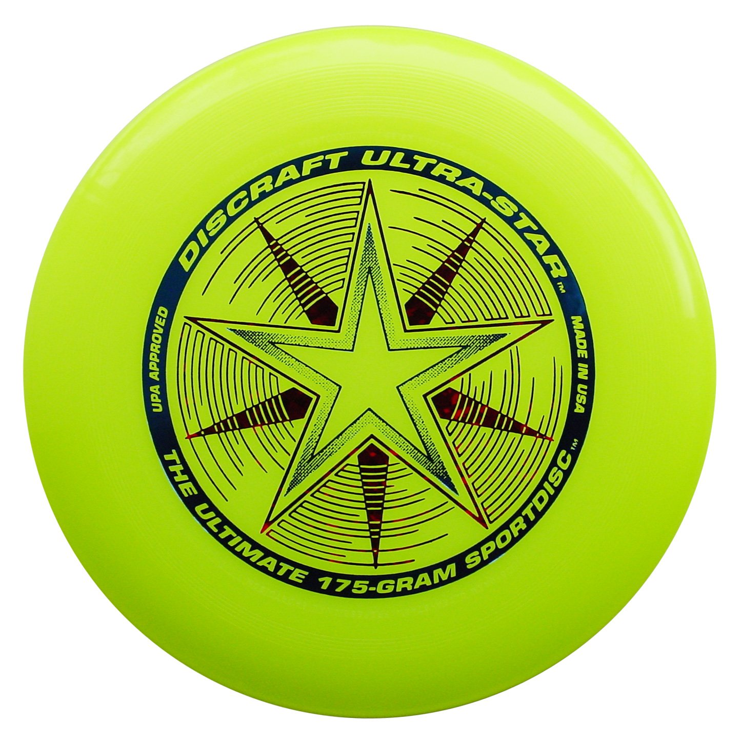 Discraft 175 gram Ultra Star Sport Disc, Fluorescent Yellow with Deluxe Packaging by Discraft