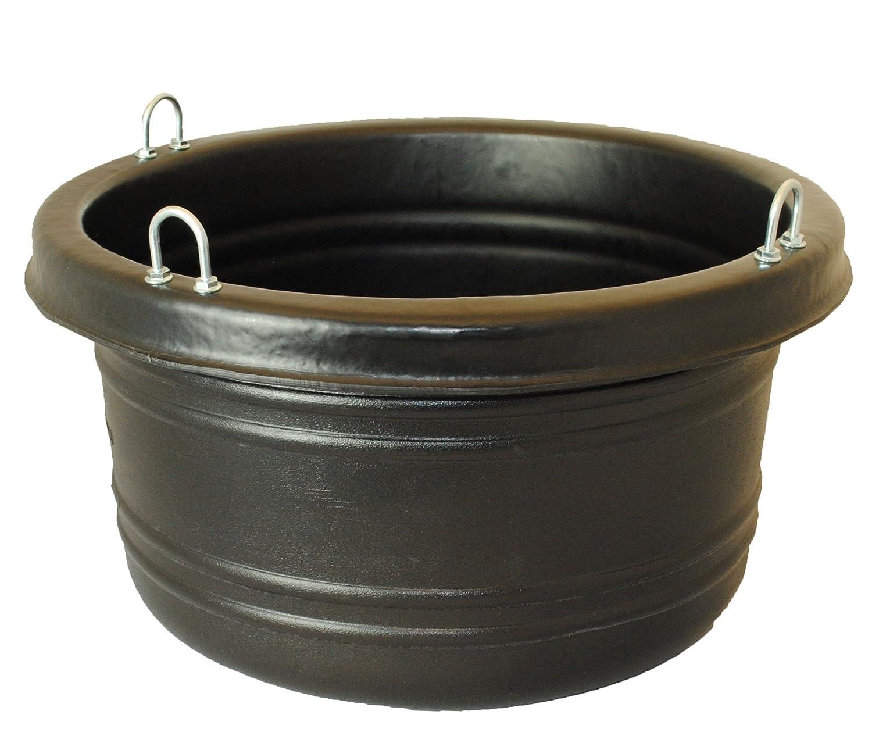 Black Not Applicable Black Not Applicable Horsemen's Pride Feed Tub, 30-Quart, Black