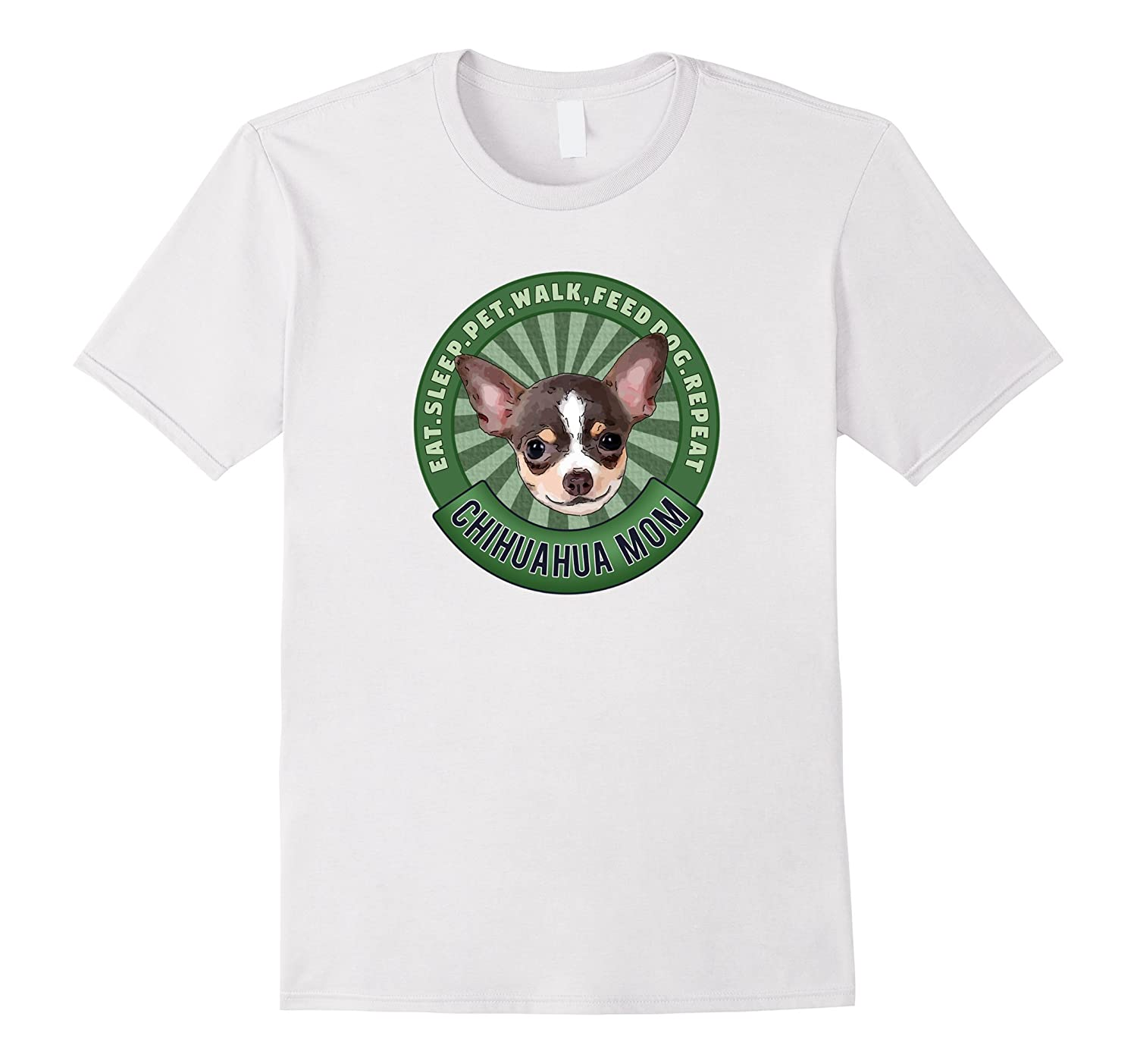 e388a93c Chihuahua Mom Eat Sleep Dog Repeat TShirt-TH - TEEHELEN