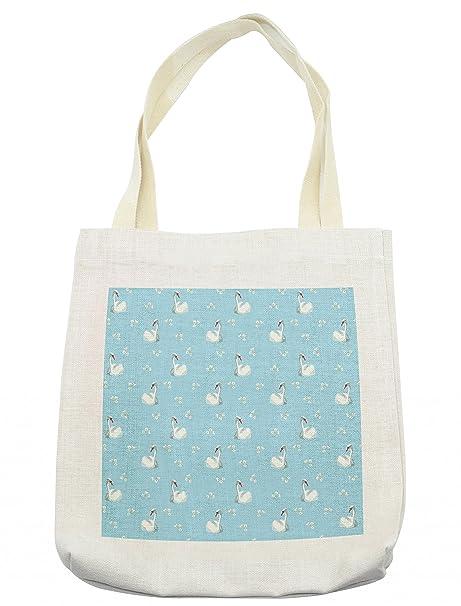 Amazon.com: Bolso de cisne Lunarable, diseño floral de San ...