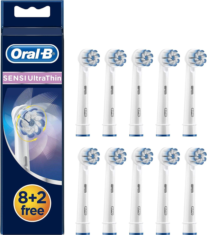 Oral-B Sensi Ultrathin - Cabezales de Recambio, Tamaño del Buzón, Pack de 8+2 Unidades