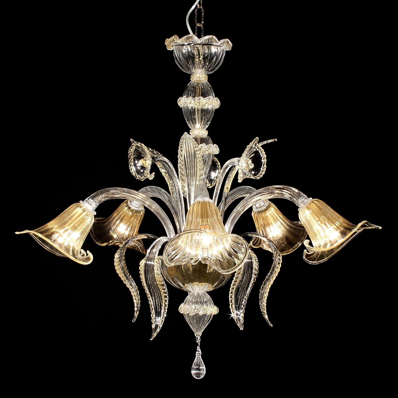 Ca Fenice araña de cristal de Murano Hecho a mano oro ...
