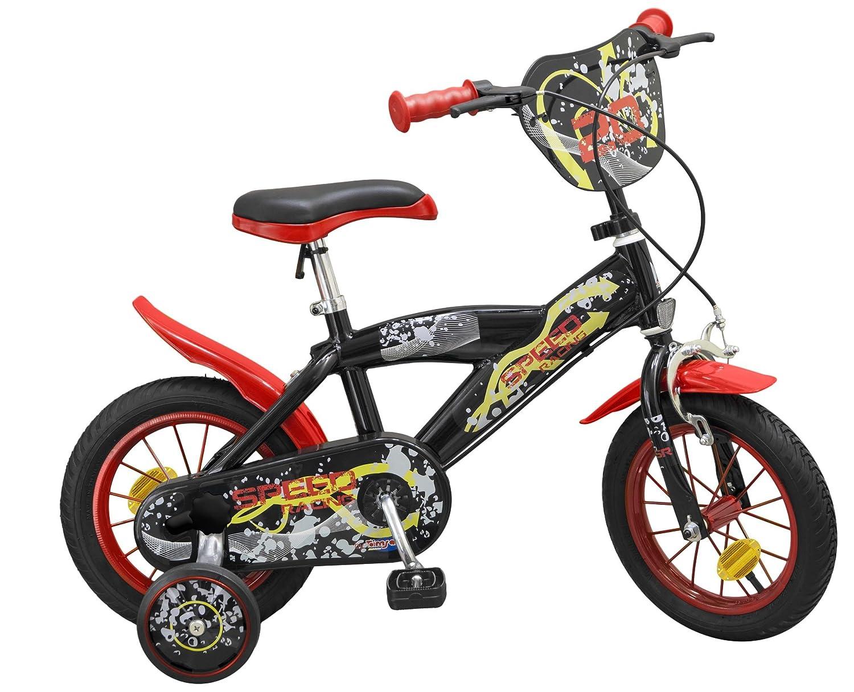 12 Zoll Kinderfahrrad Speed schwarz rot 12, 14, 16 Zoll - Stützräder (12 Zoll)