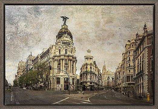 TEXFOTO Cuadro Enmarcado - Calle Gran Vía de Madrid, Calle ...