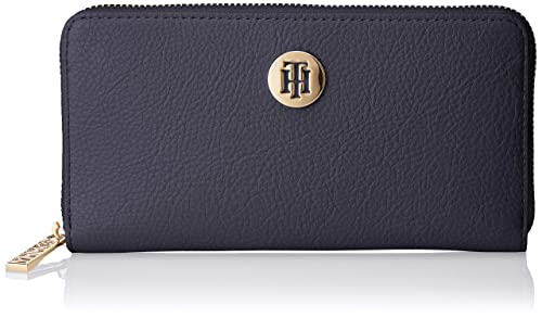 Tommy Hilfiger - Th Core Lrg Za Wallet, Carteras Mujer, Azul (Corporate)