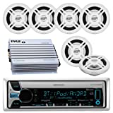 Amazon Price History for:Kenwood KMR-D765BT Bluetooth CD MP3 USB AUX AM/FM Marine Boat Stereo Receiver 6x 6.5 Dual Cone Marine Speakers 4 Ch Waterproof 400 Watt Amplifier