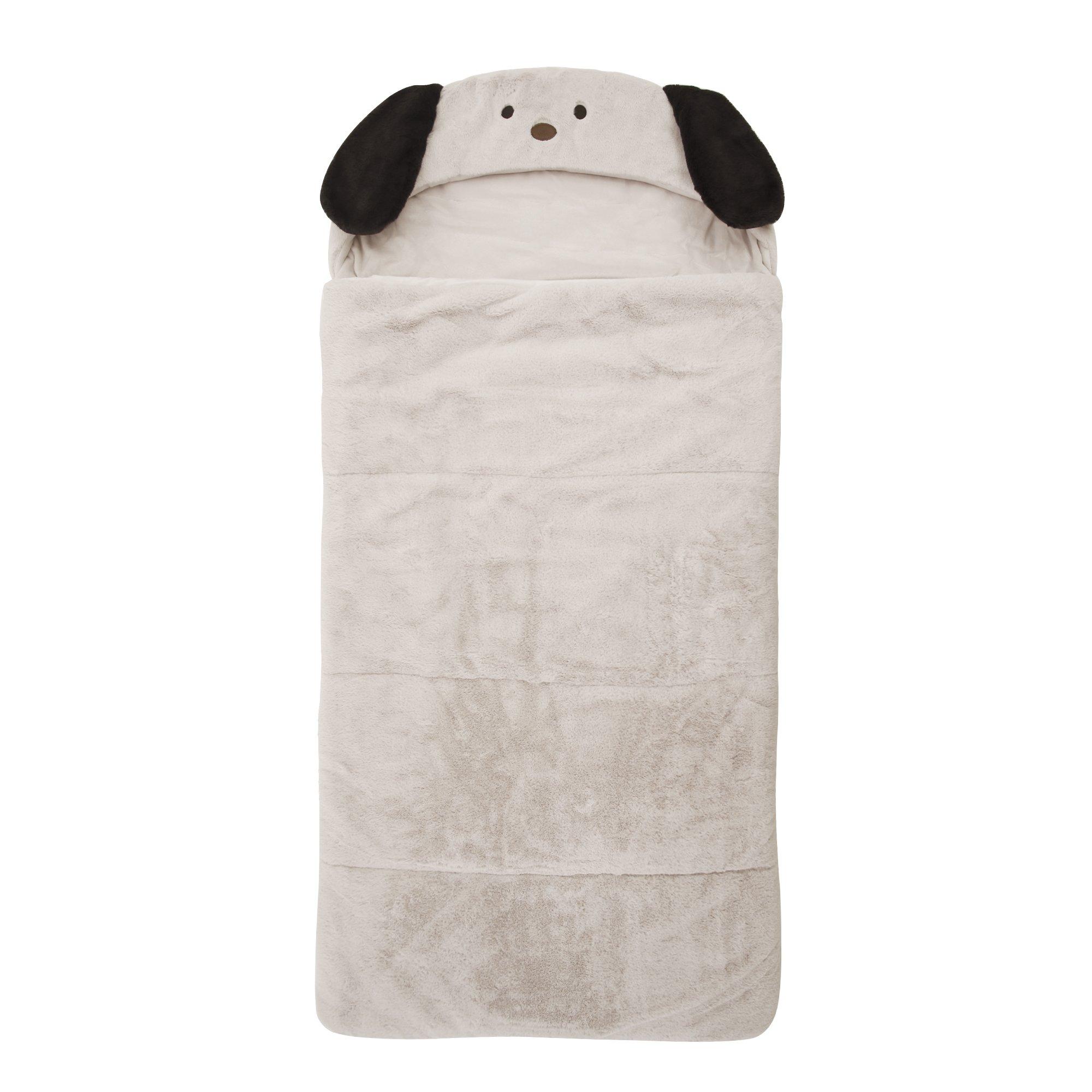 Best Home Fashion Plush Faux Fur Hooded Dog Animal Sleeping Bag - Taupe - 27''W x 59''L - (1 Sleeping Bag) by Best Home Fashion (Image #1)