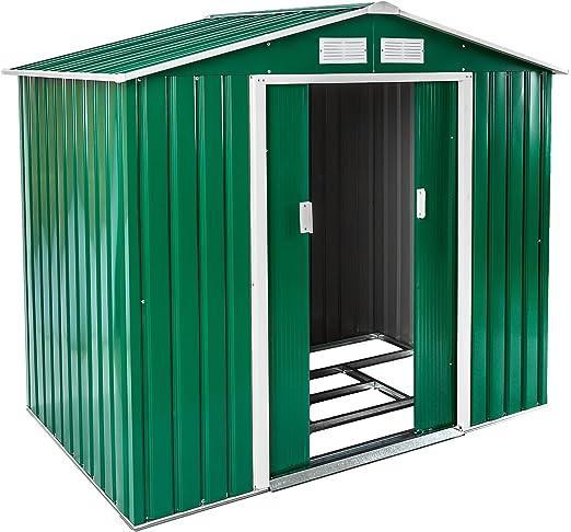 TecTake Cobertizo caseta de jardín metálica de Metal Invernadero almacén | + fundación Modelos (Tipo 1 | Verde | no. 402182): Amazon.es: Jardín