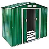 TecTake Cobertizo caseta de jardín metálica de metal invernadero almacén | + fundación | disponible en diferentes colores y modelos (Tipo 1 | verde | no. 402182)