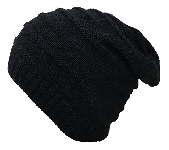 952570cfa79 Gajraj Wrinkled Slouchy Beanie for Men   Women (Black)  Amazon.in ...