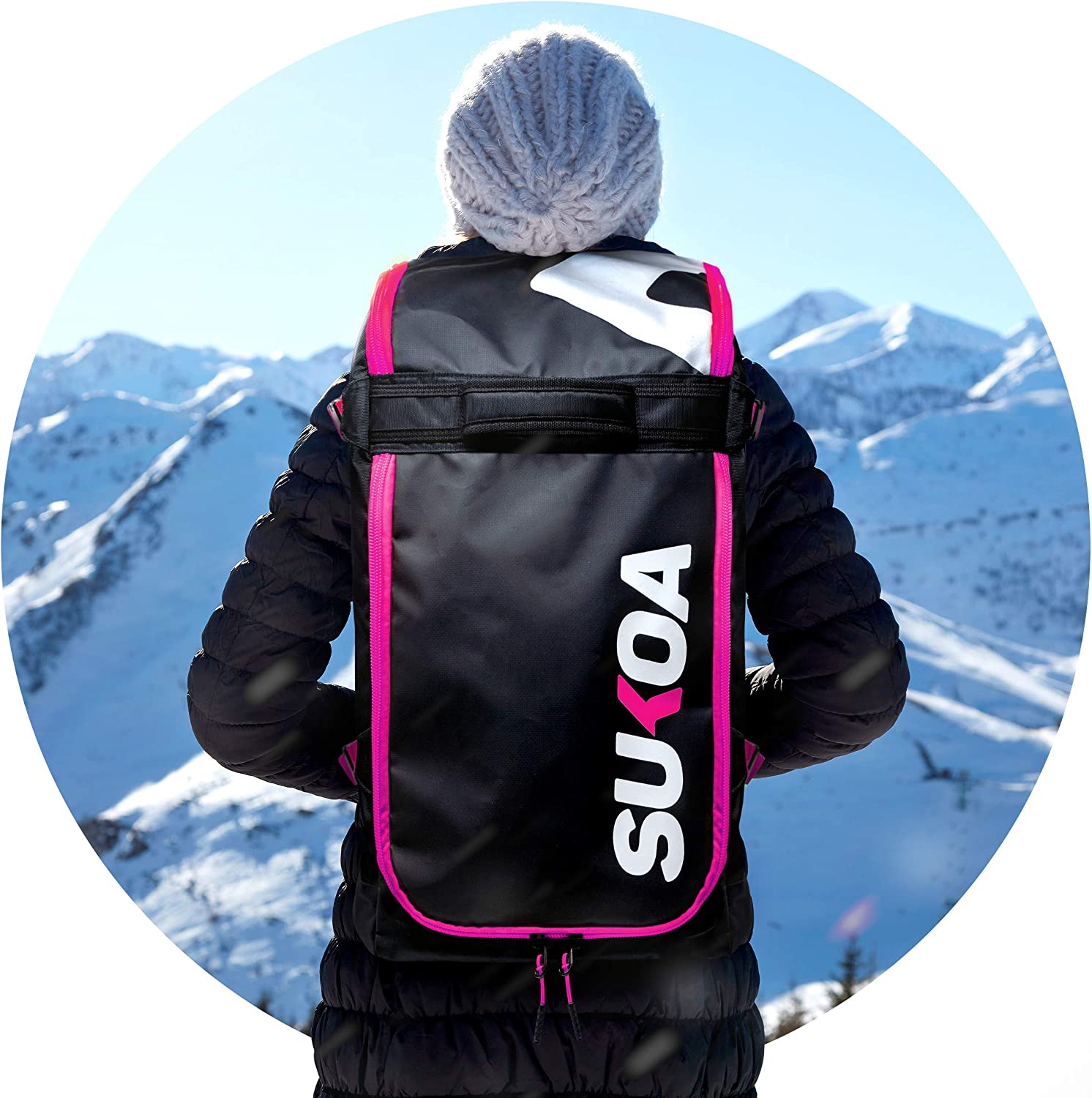 Helmet Travel Bag for Flying Air Travel Snowboard /& Ski Boots Ski Boot Bag Backpack 50L Carrier Luggage with Adjustable Straps/… Gloves, Jacket, Goggles Ergonomic Skiing Gear Accessories