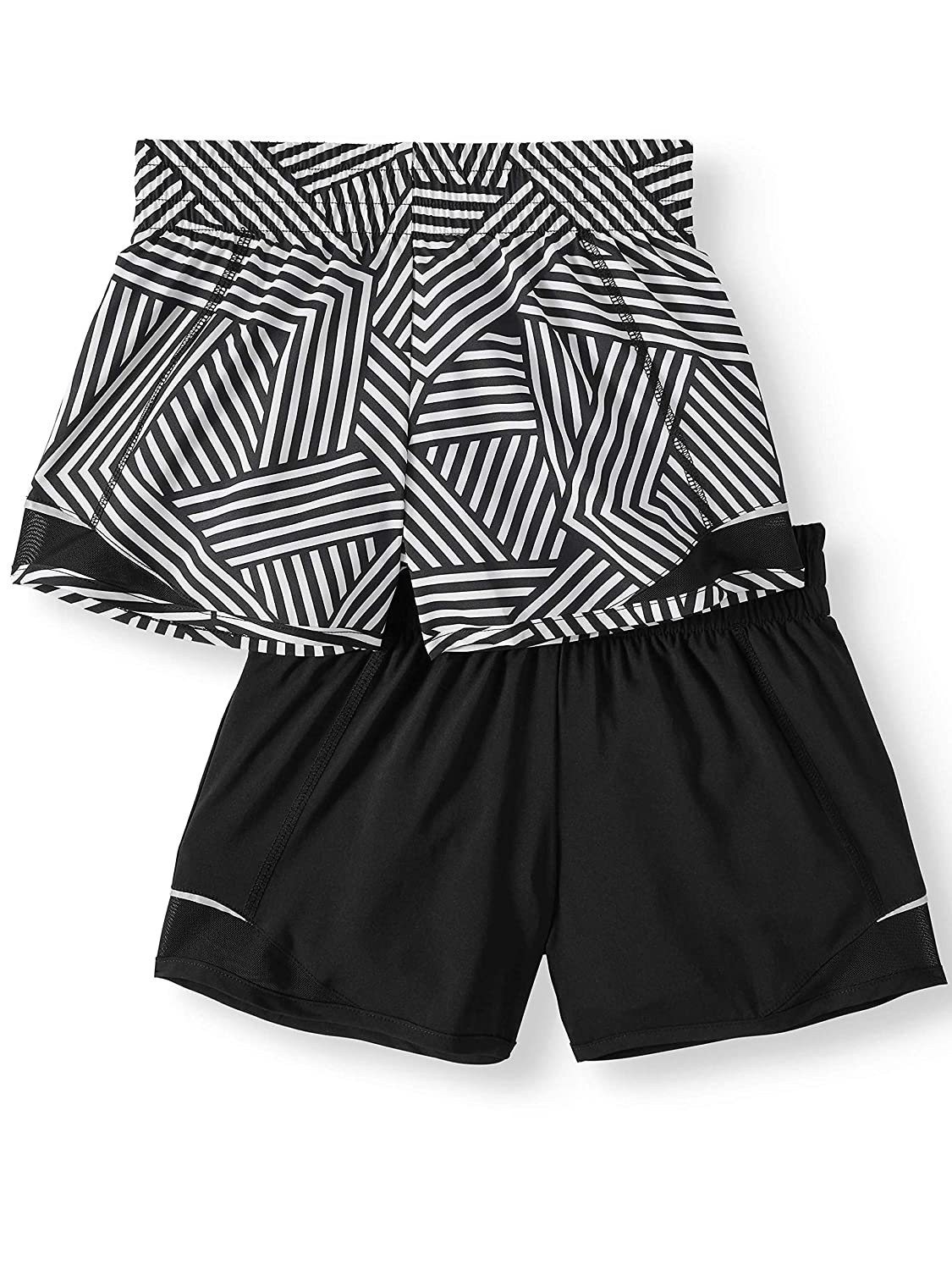 Athletic Works Girls 2 Pack Active Running Shorts