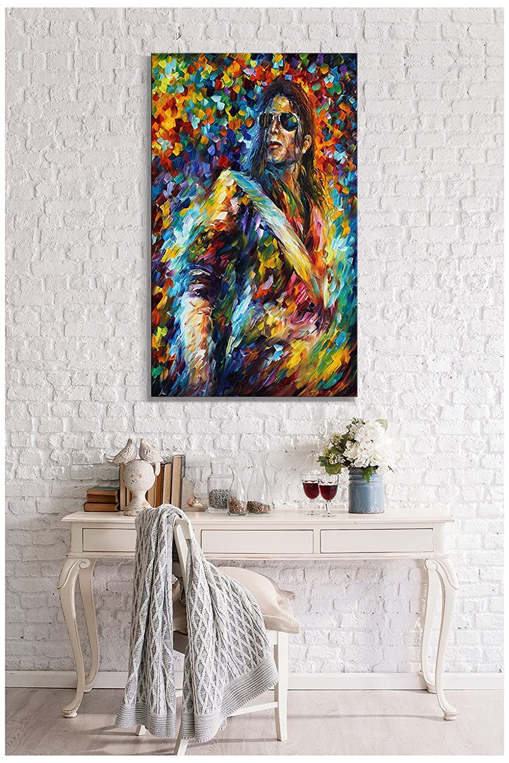 Picture Perfect International Giclee Stretched Wall Art by Leonid Afremov Michael Jackson Artists-Canvas 18 x 30 x 1