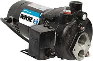 Wayne CWS50, 56942-WYN2, 1/2 HP Convertible Jet Well Pump, Upgraded 0.5, Black