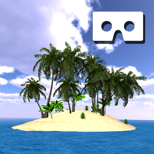 VR Tropical Paradise Island for Cardboard - Eye Glass App