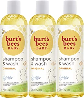 product image for Burt's Bees Baby Shampoo & Wash, Original Tear Free Baby Soap - 12 Ounce Bottle - Pack of 3
