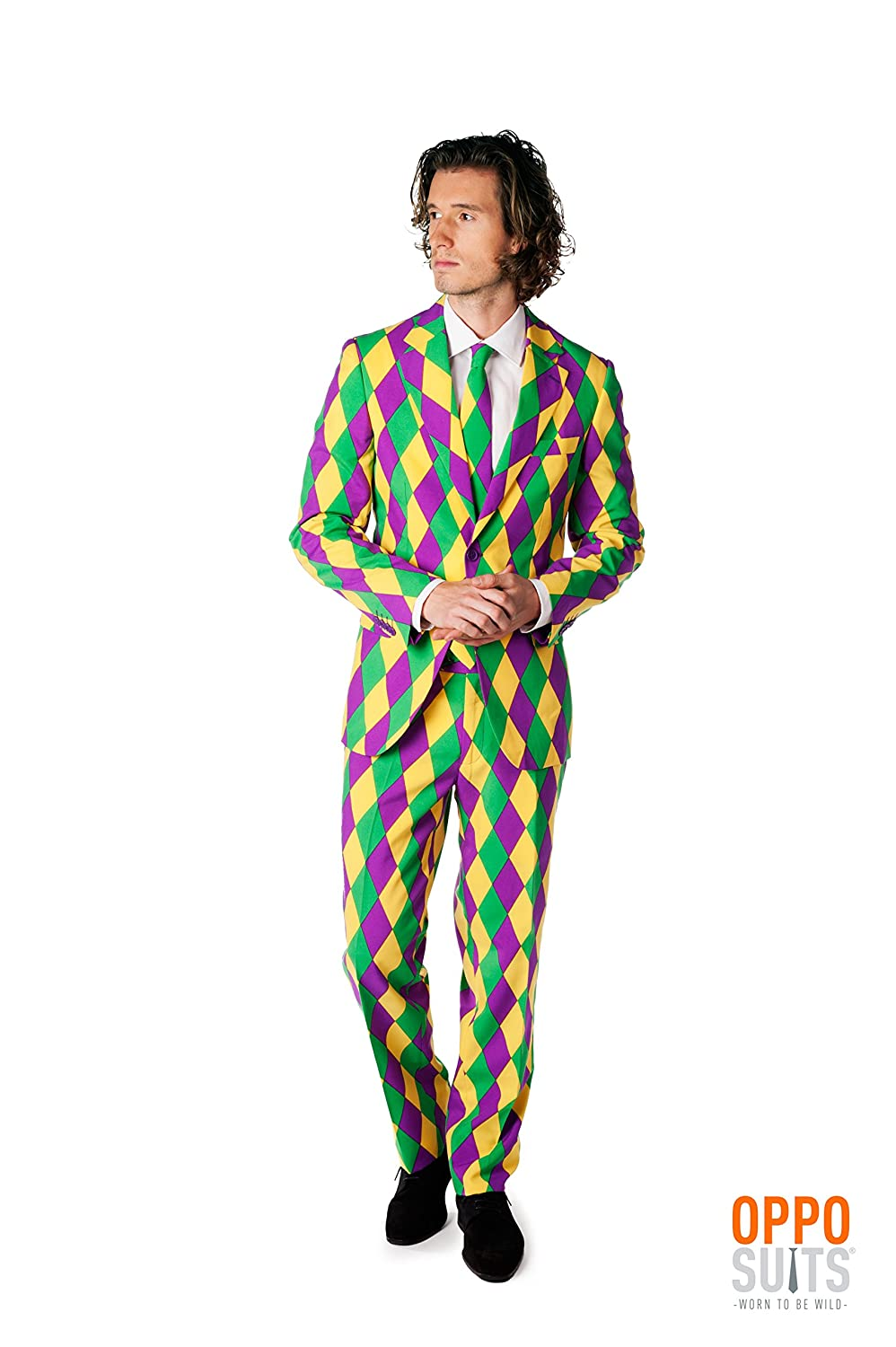 Mens Opposuits Mardis Gras Suit 42 OppoSuits USA Inc.